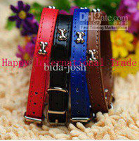 Wholesale Happy International Trade Company Cute small dog collar bones decorated leather dog collar cat coll