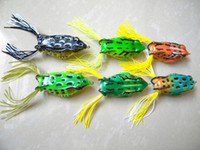 Wholesale 6 Colors New Frog fishing Lures CM G popper leapfrog bait fishing lure soft frogs topwater