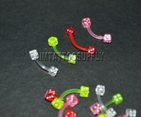 Wholesale Dice UV Curvilinear Barbells G piercing jewelry mixed design
