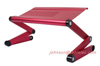 Metal adjustable table lap stand - New foldable laptop table lap desk bed table taportable laptop stand foldable laptop adjustable table laptop desk light weight laptop desk