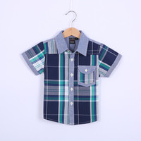 Boy Spring / Autumn Standard Hot Sale!Wholesales!Children Kids Clothing Tees,Cool Baby Boys plaid T Shirts For Summer,Children Outwear Baby T-shirt