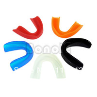 Wholesale 5Pcs New Colors Sporting Mouth Guard Teeth Protection Mouthguards Boxing Gum Shield Gear TK0948
