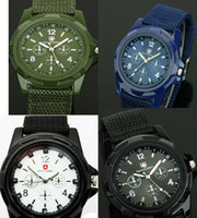 Wholesale Promotion Cool Summer Men Sport Military Army Pilot Fabric Strap Sports Men Watch colors SA003