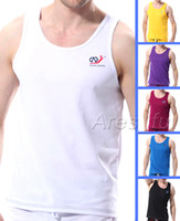 Wholesale New Arrival Sexy Men s Home Sports Casual Underwear Mens GYM Running Tank Tops A shirt Singlet T Shirts Sleeveless Muscle Vest S M L XL