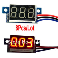Wholesale 8pcs Red Mini LED Digital Voltmeter Panel Meter Volt Voltage Meter DC V TK0600