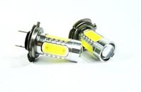 Wholesale 2x6W Cree H4 H7 H8 H9 H10 H11 H16 PY24W P13W socket LED Fog Light V V car DRL light lamp bulb car lighting