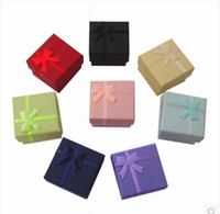 Jewelry Boxes Jewelry Packaging & Display Yes Wholesale Multi colors Jewelry Box, Ring Box, Earrings Box 4*4*3 Packing Gift Box Free Shipping