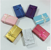 Wholesale Multi colors Jewelry Box Jewelry Sets Display Box Necklace Earrings Ring Box Packing Gift Box