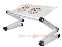 Aluminum bedroom furniture brands - Brand New small laptop desk for bed bed tray computer desk adjustable cooling pad cooling table foldable laptop adjustable table laptop desk