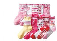 Wholesale Girl Socks Lace Print Flower Socks For Children Kids High Knee Cotton Socks Pairs One Package