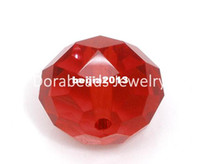 Wholesale Red Crystal Quartz Faceted Rondelle Beads mm B04758