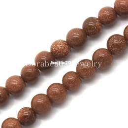 Wholesale Gold Sand Stone Beads Round Coffee mm Dia cm long Approx B23858
