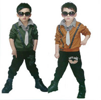 Boy Spring / Autumn Long Children wear boys long-sleeved suit Hitz 2013 plus thick velvet leisure tide baby clothes [ 3-8 years old ] X