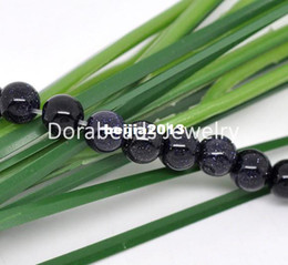 Wholesale Strands Blue Sand stone Round Beads mm Dia quot B11089