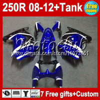 Wholesale 7gifts blue black For Kawasaki Ninja R ZX250 ZX MC162 white ZX250R Fairing Tank