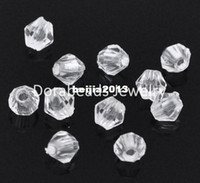 acrylic bicone beads - Clear Faceted Bicone Acrylic Spacer Beads x4mm B11221
