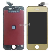 Wholesale High quqaity iPhone G LCD Assembly with Touch Screen and white Digitizer Frame Plated Gold black white for iphone5