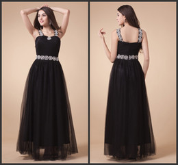 2014 black tulle A-line sexy floor length applique ruffle prom dresses party formal fashion modern long dress plus size custom made