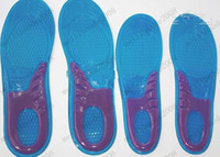 Wholesale 300pcs pairs sport silicone massaging gel shoes insole men size women NEW MYY8382