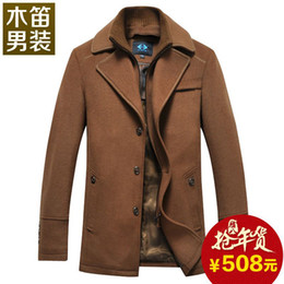 Wholesale Recorder middle aged men in the men s wool woolen coat long section thi winter clothes new winter coat Slim