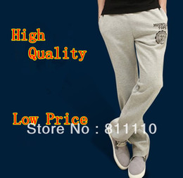 Wholesale Trend Knitting Male casual loose pants sports trousers fashion Cotton Slim lace up Men s pants plus size XXL