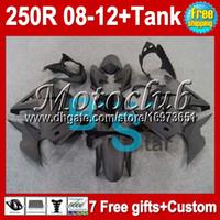 Wholesale 7gifts Tank ZX250R For Kawasaki all flat black Ninja ZX250 R MC80 ZX matte Fairing