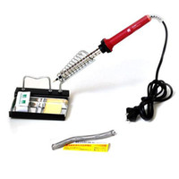 Wholesale S5Q DIY Soldering Iron Kit With Accessories Desolder Pump Solder Free Stand AAAAMD