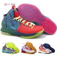 Cheap sneaker 2014 good sale fashion design New Kevin Durant KD V 5 Men's Sports Basketball Shoes athletic shoes size:40--46 26 colors