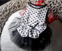Wholesale Pet Supplies Princess Bichon Teddy Dog Clothes Apparel Pet Skirt with Lace Wedding Dress Bow Dot