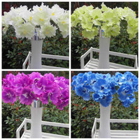 Wholesale HOT cm quot Length Artificial Flower Simulation Single Spring Cattleya Fall Flowers Wedding Decoration