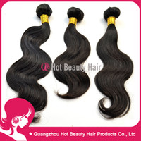 Wholesale Virgin Brazilian Indian Peruvian Malaysian Body Wave Hair Human Hair Extensions Inch Full Stock Color b