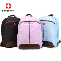 Wholesale New Pin blue black SWISSWIN Army knife backpack simple style laptop backpack shoulder backpack schoolbag BDD SWC10010