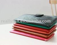 Al por mayor - descuento vendedor caliente de la alta manera de la PU de la carpeta de cuero / monedero, cartera de la moda de señora