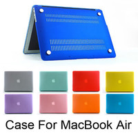 Wholesale Frosted Matte Crystal Clear Case Cover for MacBook Air inch Colorful PC Hard Shell For Apple Laptop DHL