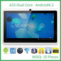 Wholesale Freeshipping inch Inch A23 Dual Core Tablet PC Allwinner Android KitKat Capacitive GHz DDR3 MB RAM GB Dual Camera WIFI MQ10