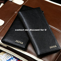 Wholesale ZEFER stylish leather wallet card bit long section of multi grain leather wallet EZ035