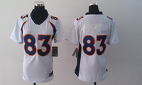 Wholesale Women s Denver Wes Welker White New Cheap American Football Jerseys Elite Jersey
