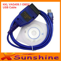 Car Diagnostic Cables and Connectors For BMW Launch Lower Price KKL V--A-G 409.1 OBD2 USB Cable Car Diagnostic Tool OBDII Scanner For AU---DI & VW Free Shipping