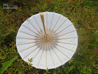 Wholesale Paper Umbrellas Plain White DIY Small Parasols Children s Sun Umbrellas