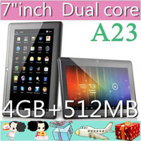 Wholesale DHL A23 Cheap Q88 quot PRO Dual Core Epad Tablet PC Android MB GB NEW JP7