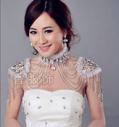Wholesale 2014 Hot Sale Bridal Jewelry fashion shoulder chains wedding chains crystal Wave chain Noble LW01