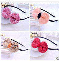 Wholesale New Arrival Children s Hot Sale Sequin Bow tie Hair Sticks Girls Fashion Princess Party Hair Sticks