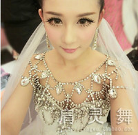 Wholesale 2016 Hot Sale Bridal Jewelry fashion shoulder chains wedding chains crystal Wave chain Noble LW02