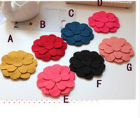 Cheap 2014 New Children's Hair Accessories Baby Girls Candy Color Flower Barrettes Sweet Pretty Fabric Hair Clips