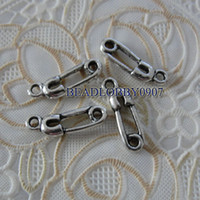 Charms Slides, Sliders baby pin charm Antic Silver Baby Pin Alloy Charms for DIY Jewelry Making 320pcs lot Drop Shipping