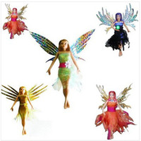 Unisex 5-7 Years Red Wholesale - - Flitter Fairies Toys,Electric Magic Flying Fairies Dolls,Four design Mara,Daria,Alexa,Eva Kids Gift