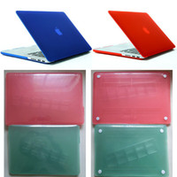 Wholesale For New Macbook Pro Retina Frosted Transparent Laptop Protector Folio Flip Cover Sleeve Hard Case Free DHL