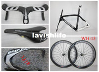Wholesale New arrive free combination DIY mix full carbon fiber pinarello Dogma THINK2 black gray frame handlebar fulcrum racing speed