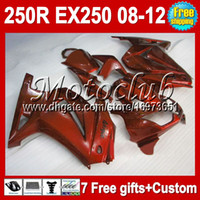 Wholesale 7gifts For Kawasaki Ninja ZX R orange not red MC269 EX250 EX ZX250R Fairing Tank new