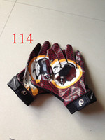 Wholesale 2014 New Exercise Training Football Gloves Men s Team Gloves PU Size M L XL XXL Mix And Match Order All Teams top quality drop ship